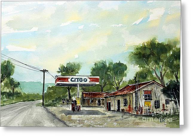 Leipers Fork Paintings Greeting Cards - This Is Potts Place Greeting Card by Tim Ross