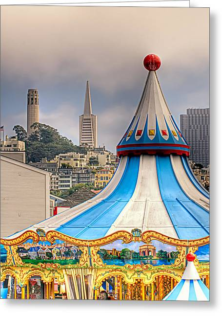 This Is San Francisco 1 Four Towers Greeting Card by Paul W Sharpe Aka Wizard of Wonders