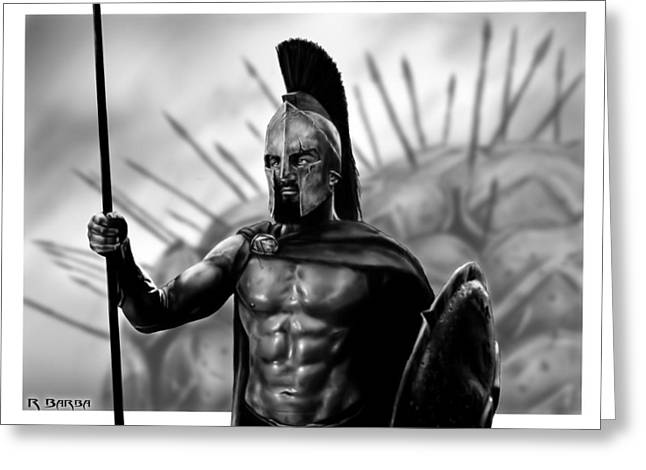 Glory Honor Greeting Cards - This is Sparta Greeting Card by Ronald Barba