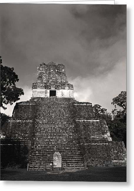 This Is Temple 2 At Tikal Greeting Card by Stephen Alvarez