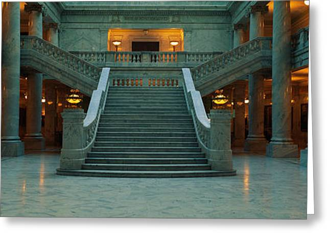 Slc Photographs Greeting Cards - This Is The Interior Of The State Greeting Card by Panoramic Images