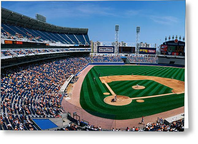 Pastimes Greeting Cards - This Is The New Comiskey Park Stadium Greeting Card by Panoramic Images