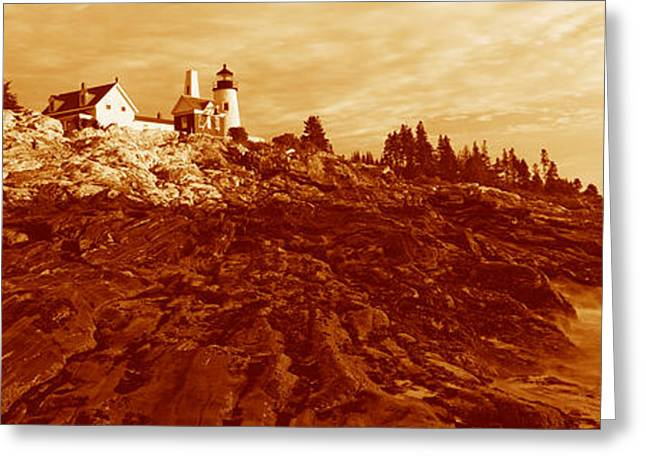 Maine Shore Greeting Cards - This Is The Pemaquid Point Lighthouse Greeting Card by Panoramic Images