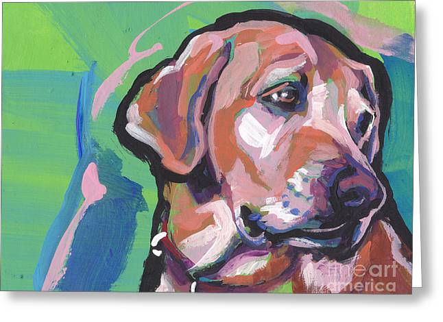 This Lab Adores You Greeting Card by Lea S