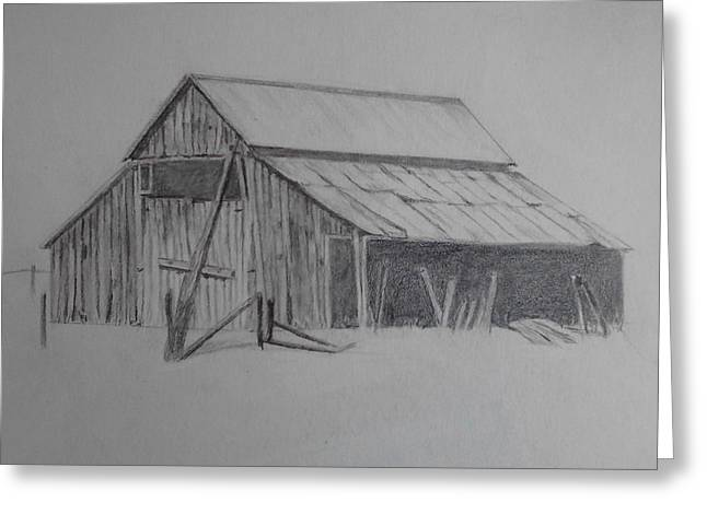 This Old Barn Greeting Card by Eva Harris