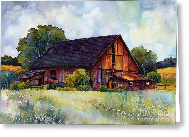 Old Country Roads Paintings Greeting Cards - This Old Barn Greeting Card by Hailey E Herrera