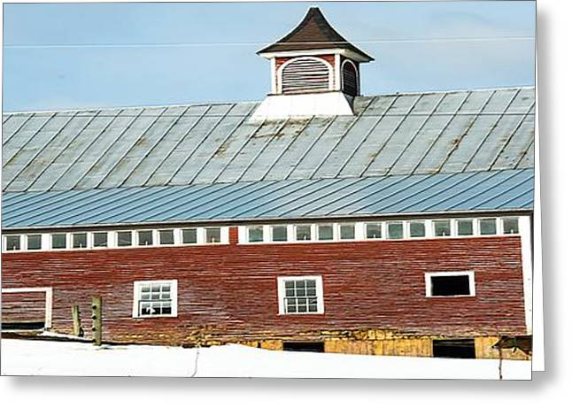 Tin Roof Greeting Cards - This Old Barn Greeting Card by Sherman Perry