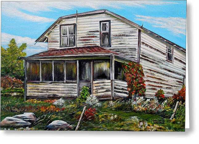This Old House 2 Greeting Card by Marilyn  McNish
