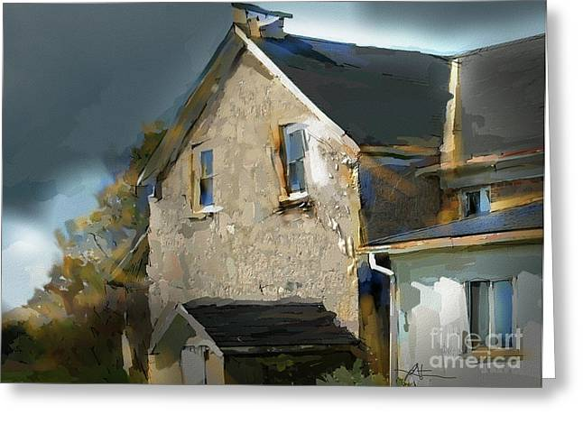 Stone House Digital Greeting Cards - This Old House Greeting Card by Bob Salo