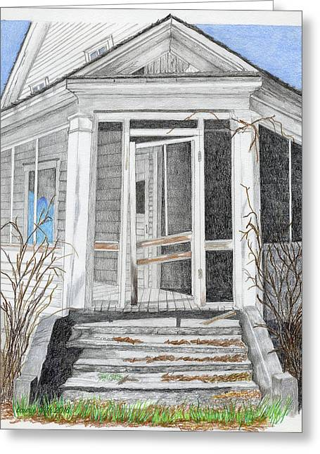 This Old House Greeting Card by Laurie With
