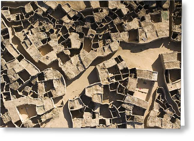 This Old Salt Slab Town In Dirkou Greeting Card by Michael Fay