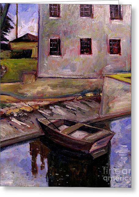 This One Got Away Plein Air Framed Greeting Card by Charlie Spear
