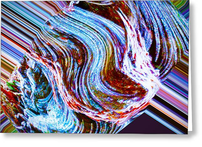 Abstract Digital Art Canvas Greeting Cards - This Screams Buy Me Greeting Card by Bill Cannon