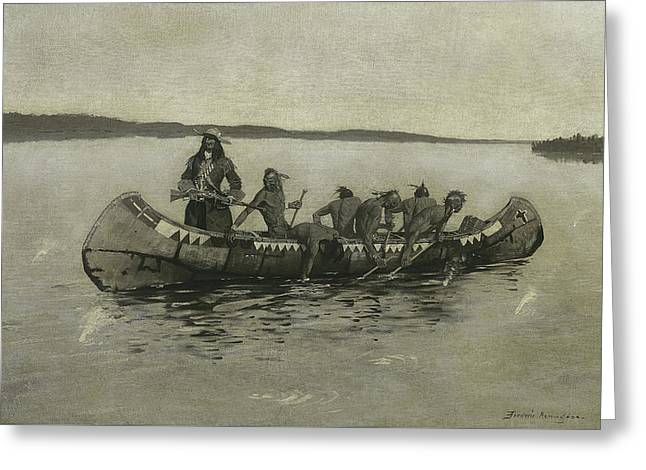 This Was A Fatal Embarkation Greeting Card by Frederic Remington