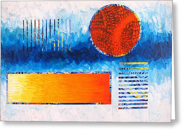 Abstract Geometric Greeting Cards - This Was That Greeting Card by Rollin Kocsis