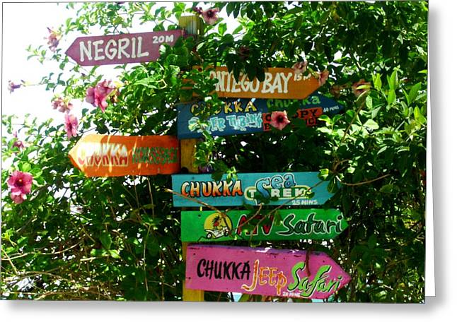 Montego Bay Greeting Cards - This Way Greeting Card by Lauranns Etab