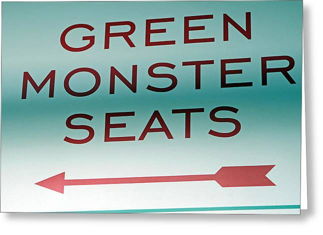 This Way To The Green Monster Seats Greeting Card by Juergen Roth
