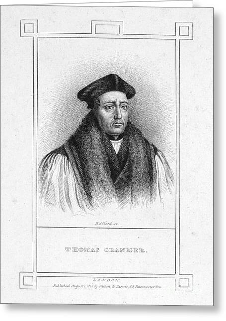 Martyr Greeting Cards - Thomas Cranmer (1489-1556) Greeting Card by Granger