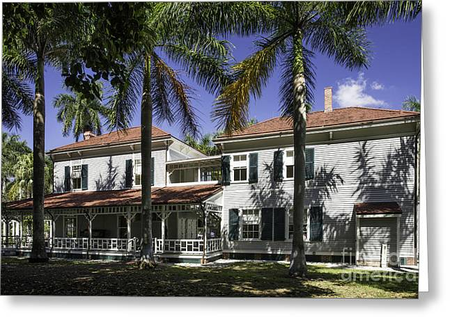Thomas Edison Winter Home - Florida Greeting Card by Brian Jannsen