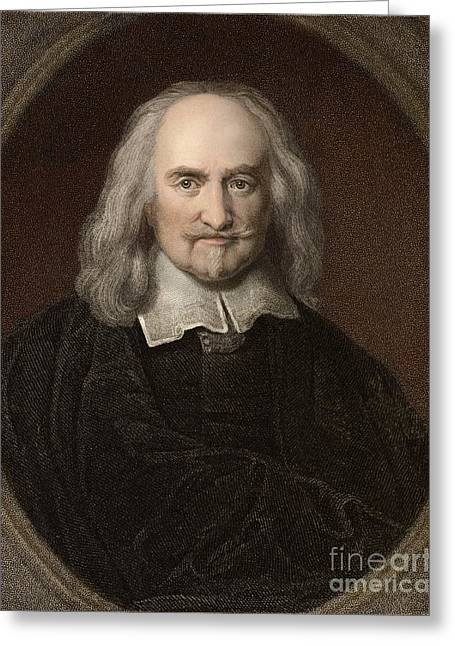 Sociology Photographs Greeting Cards - Thomas Hobbes, English Philosopher Greeting Card by Paul D. Stewart