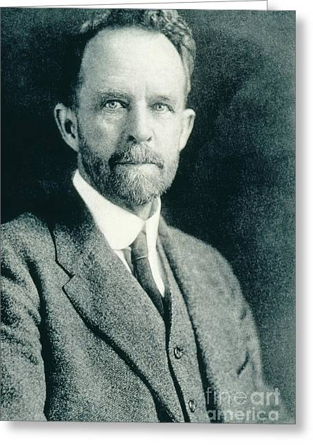 Nobel Recipient Greeting Cards - Thomas Hunt Morgan, American Geneticist Greeting Card by Photo Researchers, Inc.