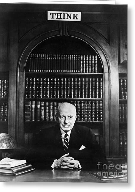 Bookcase Greeting Cards - Thomas J. Watson (1874-1956) Greeting Card by Granger