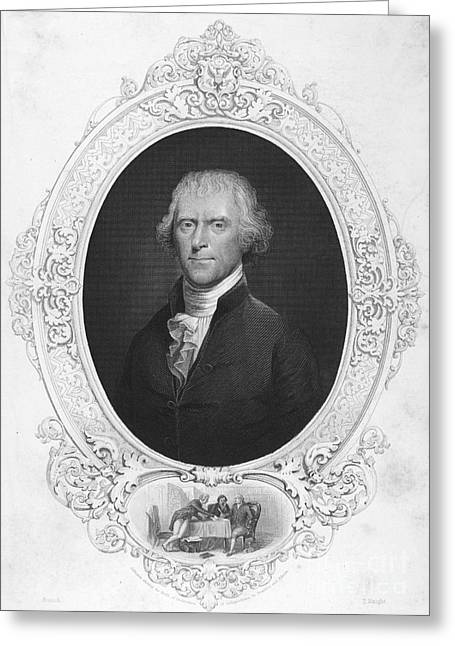 Democratic Republican Greeting Cards - Thomas Jefferson Greeting Card by Granger