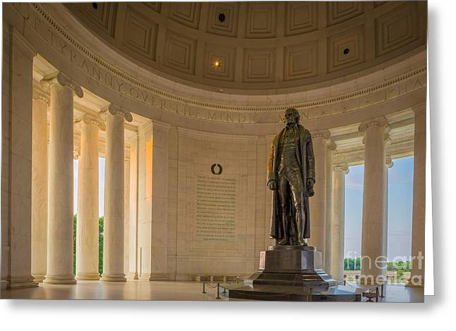 National Mall Greeting Cards - Thomas Jefferson Greeting Card by Inge Johnsson