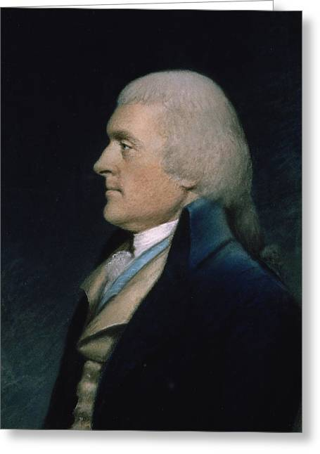 Independence Pastels Greeting Cards - Thomas Jefferson Greeting Card by James Sharples