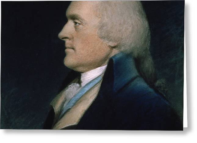 Thomas Jefferson Greeting Card by James Sharples