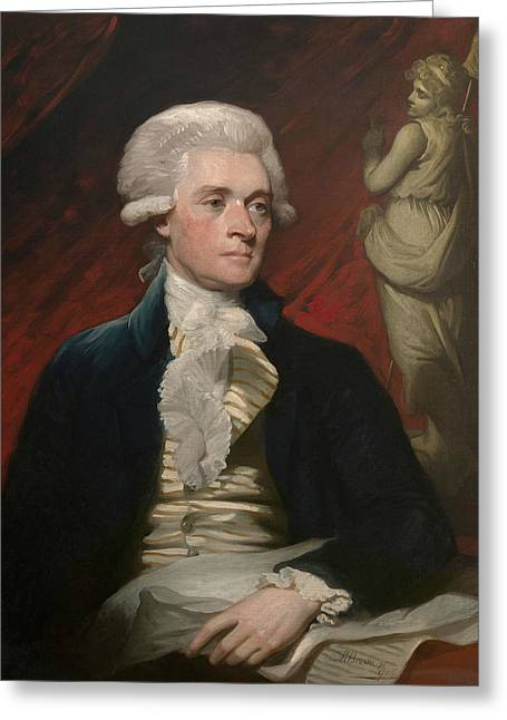 Thomas Jefferson Greeting Card by Mather Brown