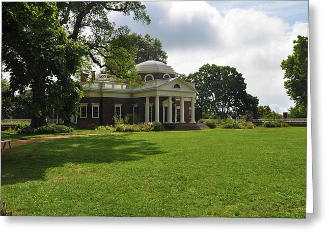 Thomas Jefferson's Monticello Greeting Card by Bill Cannon
