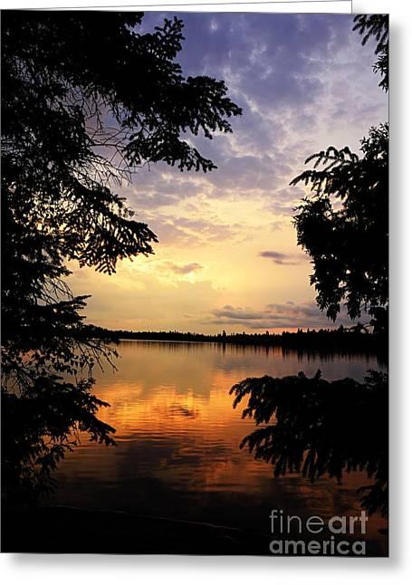 Thomas Lake Sunset 2 Greeting Card by Larry Ricker