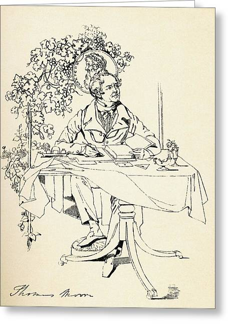Entertainer Drawings Greeting Cards - Thomas Moore, 1779 Greeting Card by Ken Welsh