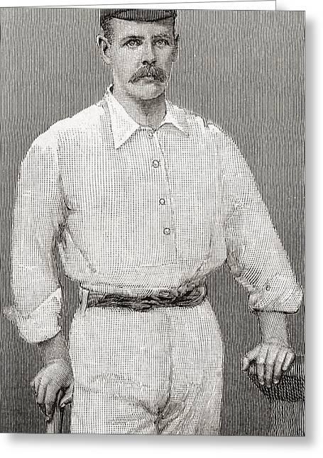 Cricketers Greeting Cards - Thomas Walter Hayward, 1871 Greeting Card by Vintage Design Pics