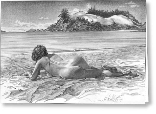 Academic Nudes Greeting Cards - Thompson Point Greeting Card by Olivier Duhamel