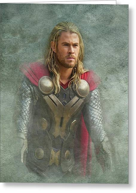 Thor In Asgard  Greeting Card by Movie Poster Prints