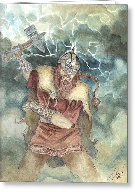 Thor Greeting Cards - Thor Greeting Card by Lee Lynch