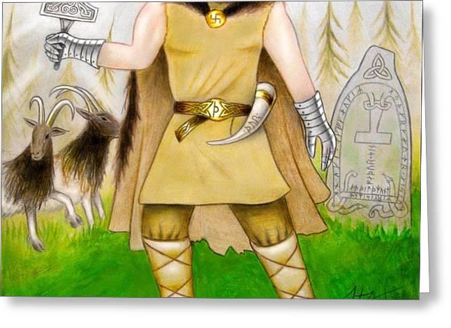 Thor Odinsson Greeting Card by Ilias Patrinos
