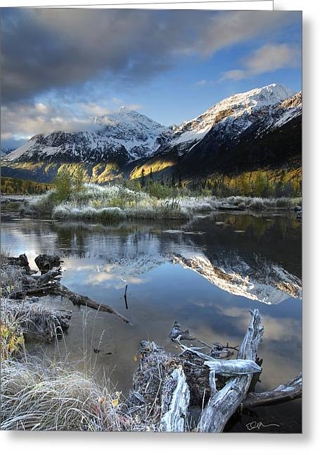 Snow Capped Mountains Greeting Cards - Thoreau Greeting Card by Ed Boudreau