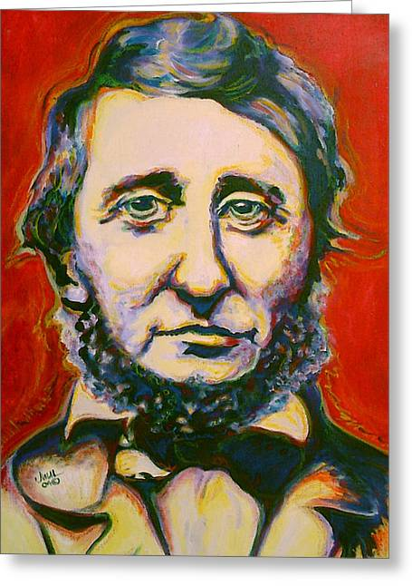 Abolitionist Paintings Greeting Cards - Thoreau Greeting Card by Margaret Juul