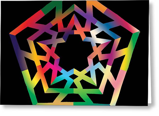 Chromatic Greeting Cards - Thoreau Star Greeting Card by Eric Edelman