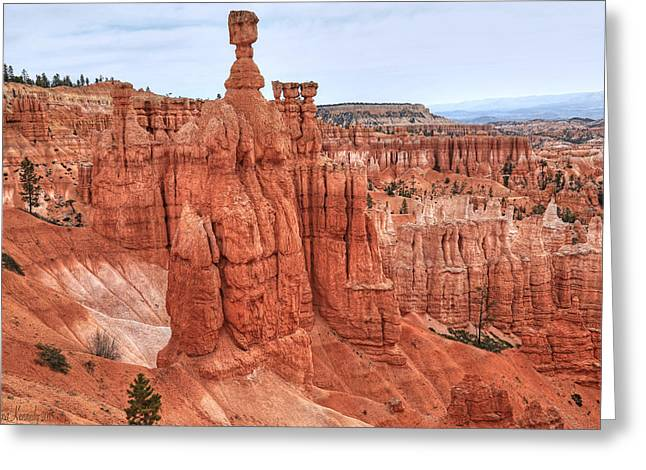 Rock Hammer Greeting Cards - Thors Hammer at Bryce Canyon Greeting Card by Donna Kennedy