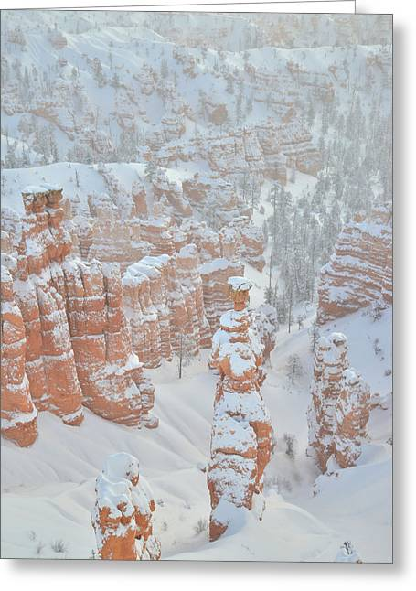 Thor's Hammer In Snow Greeting Card by Ray Mathis