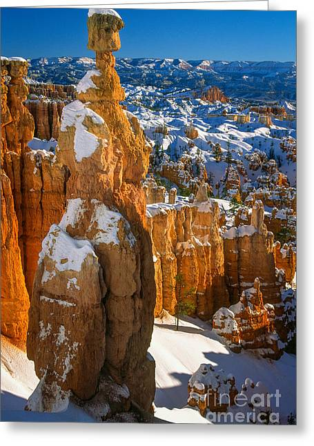 Thors Hammer In Winter Greeting Card by Inge Johnsson