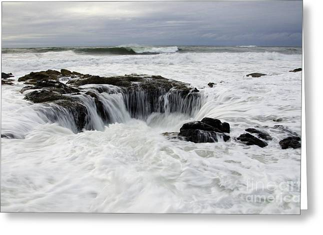 Flowing Wells Greeting Cards - Thors Well Oregon Truly A Place Of Magic 10 Greeting Card by Bob Christopher