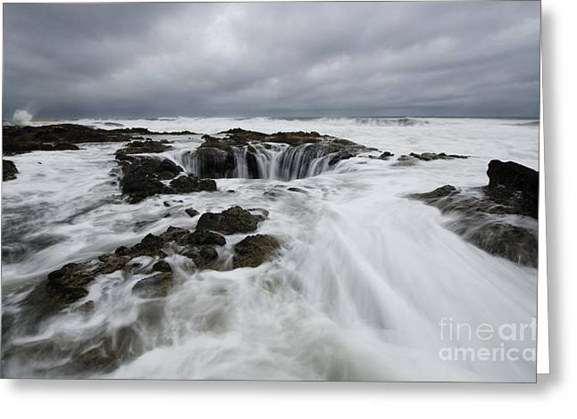 Flowing Wells Greeting Cards - Thors Well Oregon Truly A Place Of Magic 9 Greeting Card by Bob Christopher