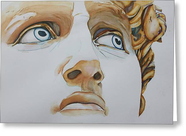 Michelangelo Greeting Cards - Those Eyes Greeting Card by Christiane Kingsley