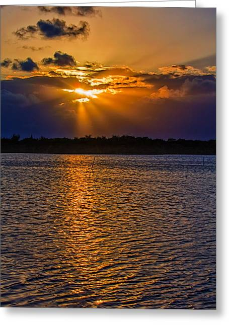 Layers Greeting Cards - Those Sunsets in the Keys Greeting Card by John Bailey