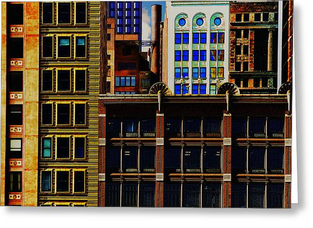 Altered Architecture Greeting Cards - Those Were The Days Greeting Card by David Patryas